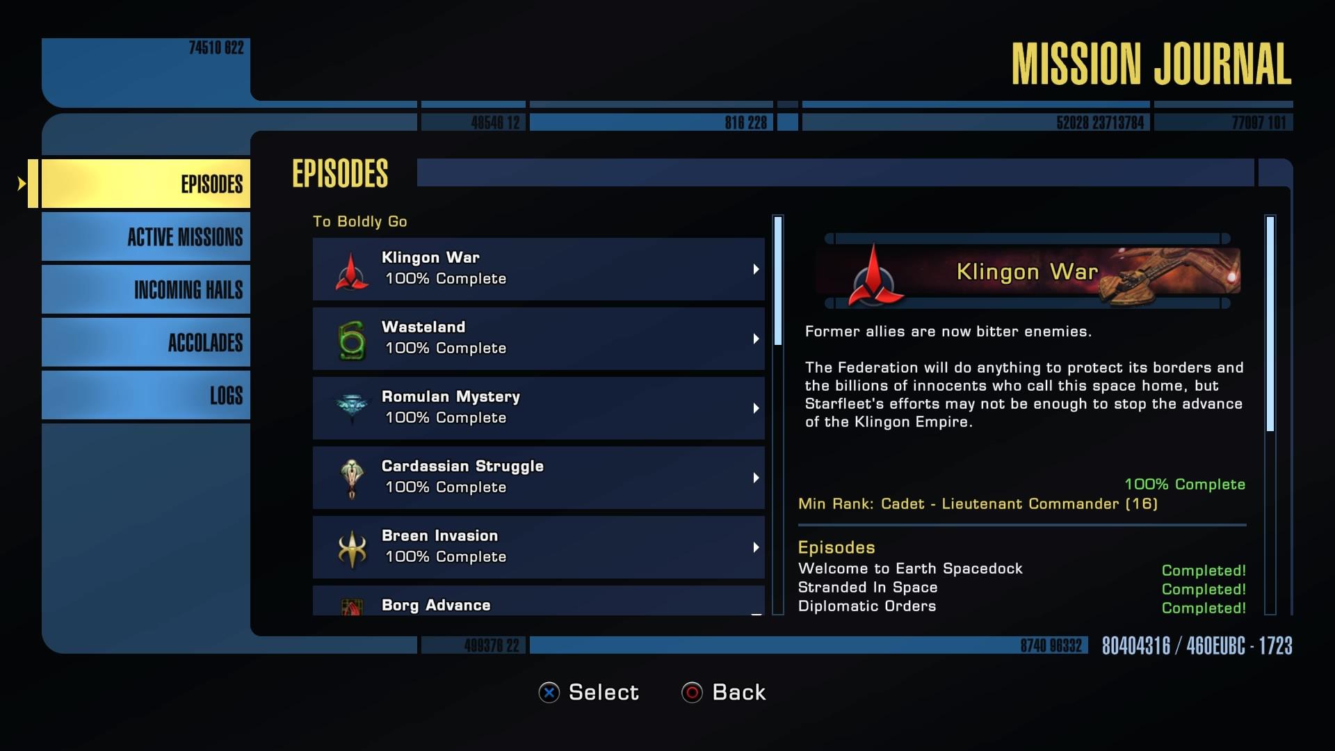 Mission Rewards